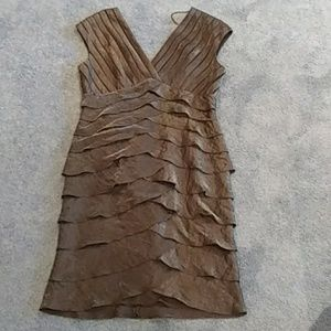 Adrianna Papell brown dress
